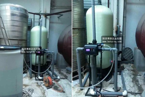 西安东郊热交换站20吨/小时浮动软化水设备